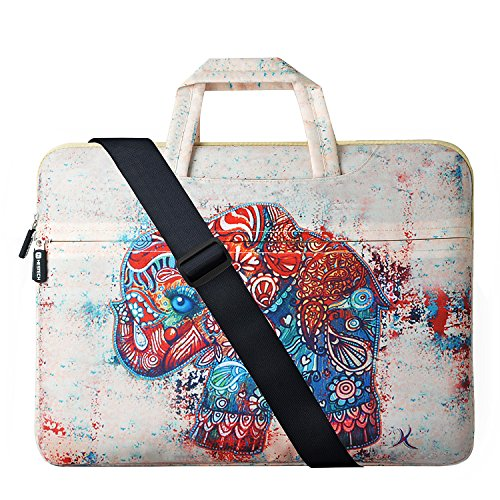 HESTECH 14-15.6 Inch Laptop Sleeve, Carrying Case Handbag Compatible for MacBook Pro | Pro Retina | Lenovo Dell Toshiba HP Chromebook ASUS Acer Ultrabook Notebook (Elephant)