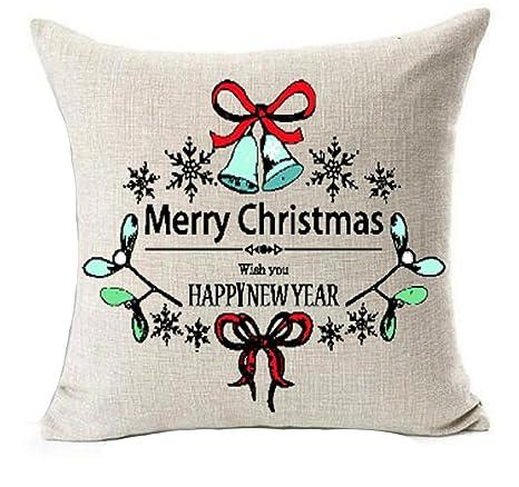 Feliz Navidad y Feliz Año Nuevo deseo felices Fiestas Navidad calcetines campanas manta de algodón lino