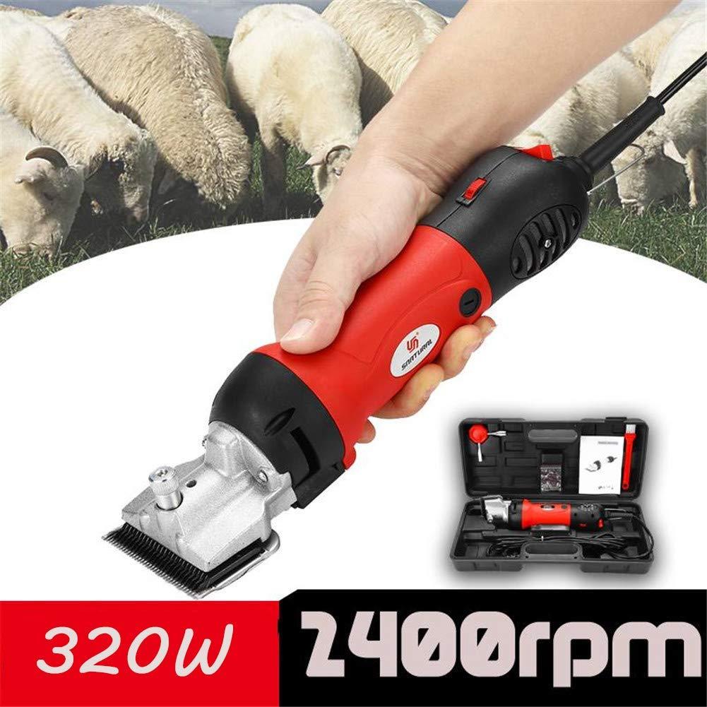 Eu220v GJR-TIMAOJI Professional Electric Horse Shears Horse Hair Clippers,320W & 6 Speed Adjustable, for Shaving Fur in Donkey Alpacas,Llamas and Other Farm Livestock Pet,EU220V
