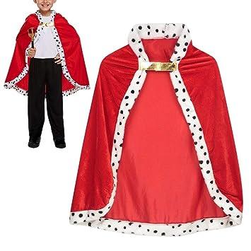 1b0e74ea9e9b Childrens Kids Red Royal Robe King Fancy Dress Costume Halloween ...