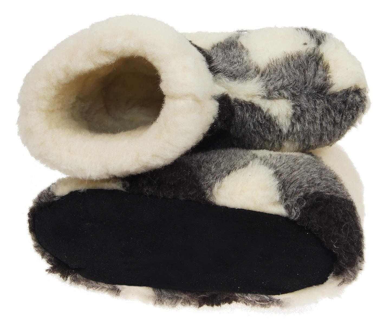 Zapatillas De Casa Mujer Invierno Unisexo Lana Pantuflas Zapatillas para Hombre Hechas De Lana De Oveja Ole