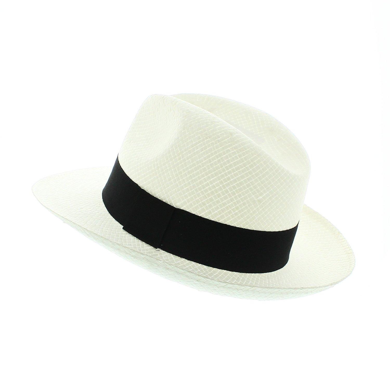 Chapeau Fedora Holmes votrechapeau Large bord Paille
