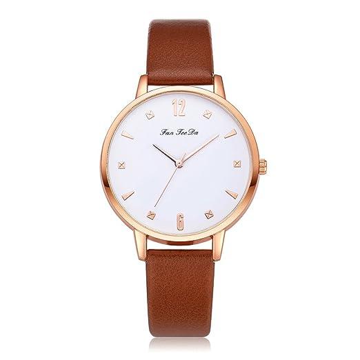 Reloj de Cuarzo para Mujer,QINGXIA_ZI Reloj de señora Creative Reloj de Pulsera de Cuero