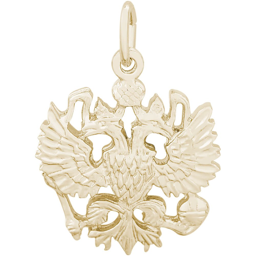 Rembrandt Charms 10K Yellow Gold Russian Eagle Charm (0 x 0 inches)