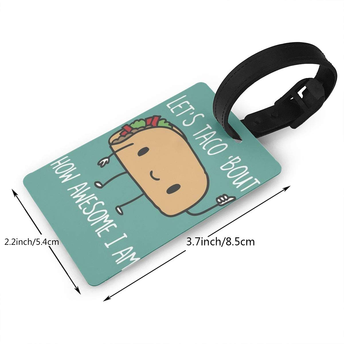 2 Pack Luggage Tags Taco Handbag Tag For Suitcase Bag Accessories