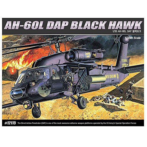Academy 12115 AH-60L DAP BLACK HAWK Helicopter Plastic Model ()