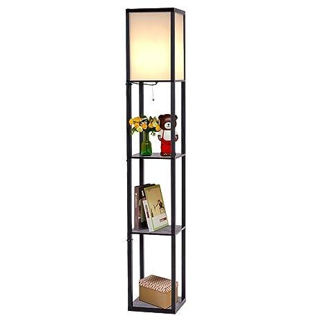 Exceptionnel Safstar Modern Shelf Floor Lamp W/3 Storage Shelves For Lighting Home  Living Room Bedroom