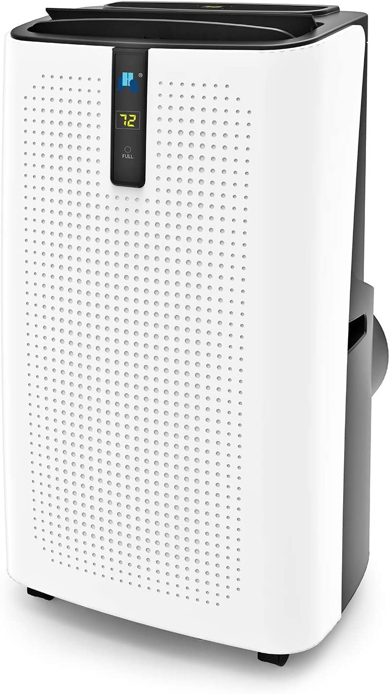 JHS 12,000 BTU Portable Air Conditioner, 3-in-1 Floor AC Unit with 3 Fan Speeds, Remote Control and Digital LED Display, Cover up to 400 Sq. Ft.