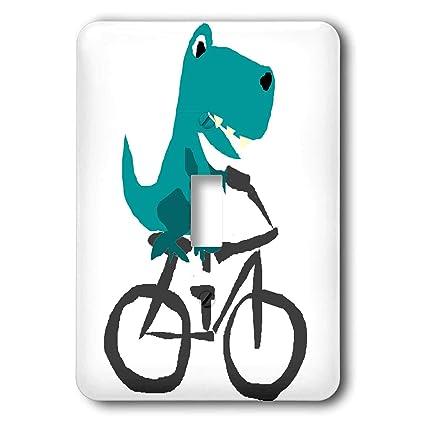 3dRose All Smiles Art - Dinosaurs - Funny Cute Blue T-rex ...