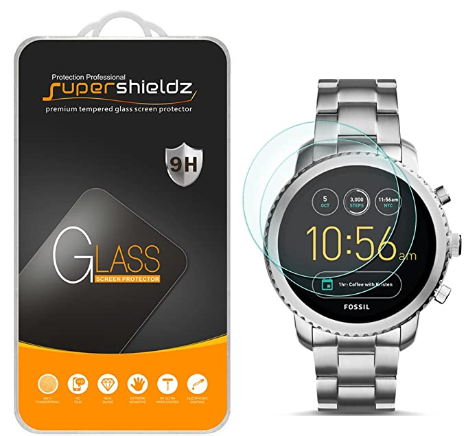 Amazon.com: [2-Pack] Supershieldz for Fossil Q Explorist Gen 3 Tempered Glass Screen Protector, Anti-Scratch, Bubble Free, Lifetime Replacement: Cell Phones ...