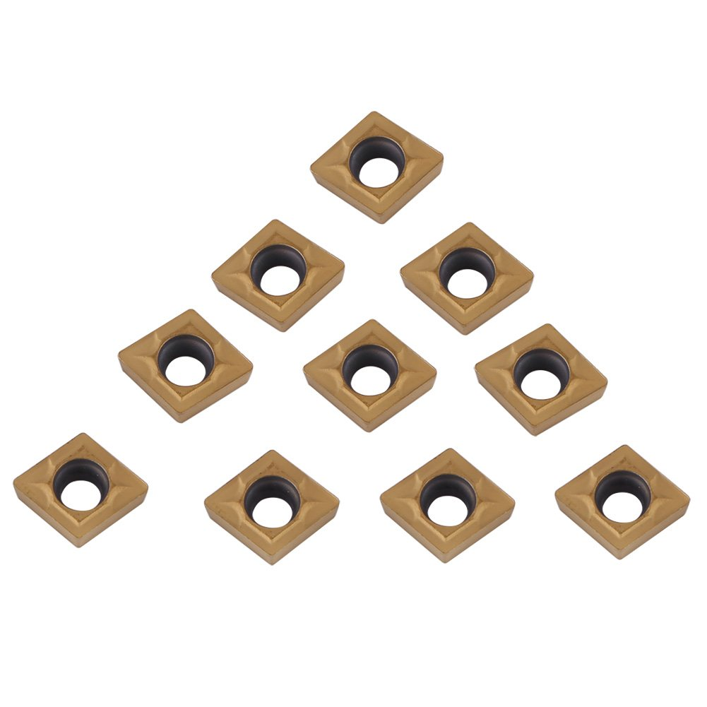 Insertos de Carburo 10 Piezas Insertos de Torno Insertos de Puntas de Carburo CNC Herramienta de Torneado de Torno con Caja