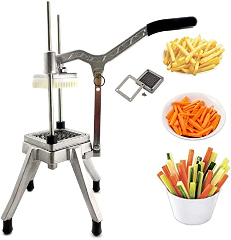 TUNTROL Commercial Vegetable Dicer Blade Quick Slicer Machine Stainless Steel Easy Chopper Dicer for Onion Tomato Pepper Potato Mushrooms 1//2+1//4+3//8 Blade