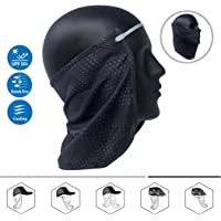 CoolNES Neck or Face Sun Mask | 1 Product 2 Uses | 1 Removable Universal Fit Headband with 1 Flap | Multifunctional Headwear | 4 Season Performance | Caps | Hats | Bike + Ski Helmets UPF 50 Patent