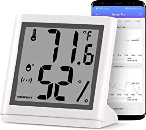NEWOKE Digital Indoor Hygrometer Thermometer Wireless,Indoor Outdoor Thermometer Wireless,Digital Temperature and Humidity Monitor with LCD Display,Smart App Notification Alert,for Home, Office