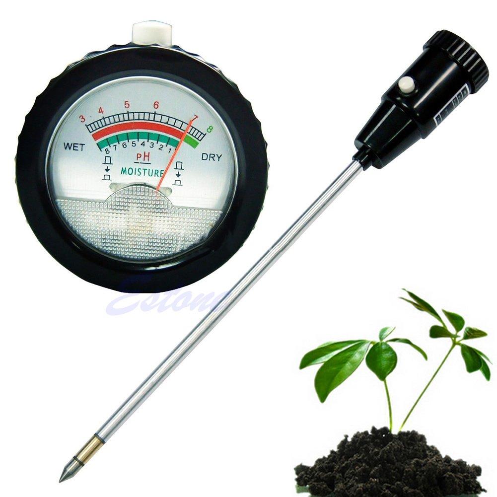 Yumian Long Electrode Soil pH Level Meter Moisture Tester 295mm Metal Probe Plant Crops