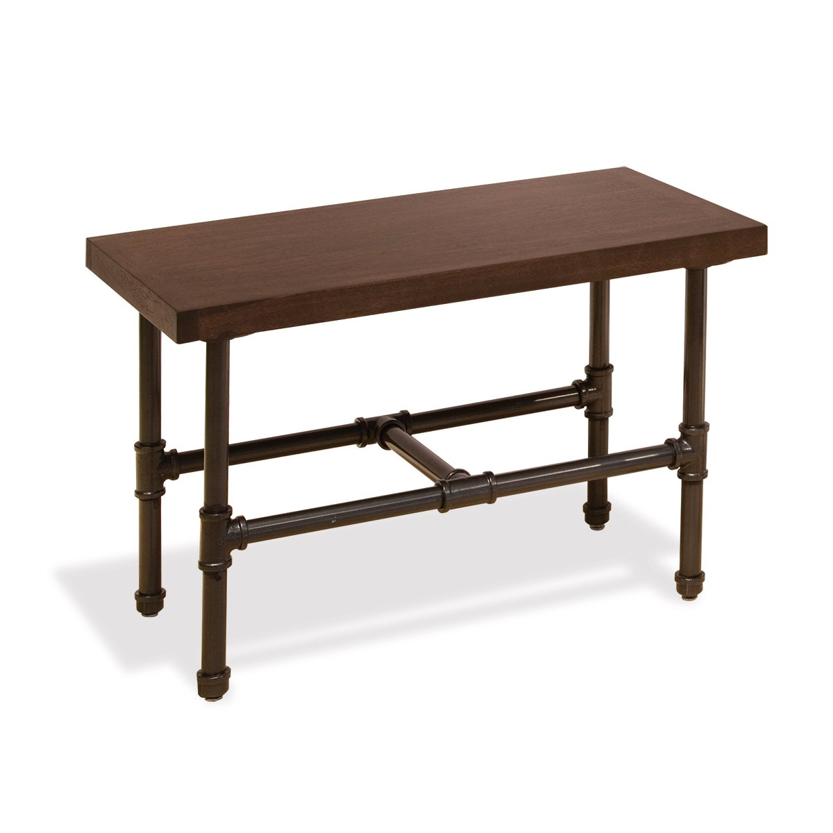 Econoco Pipeline Small Display Table with Top, Dark Brown Wood Grained Melamine by Econoco (Image #1)