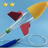 ペットボトルロケット 夏休みの自由研究 発射台・ペットボトル・空気入れ付 知育玩具 【montesoro】