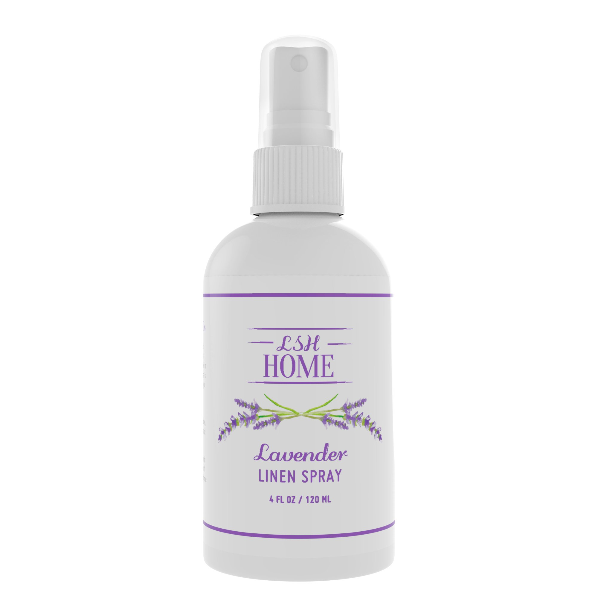LSH Home Lavender Essential Oil Aromatherapy Linen Spray - Pure & Natural - Handcrafted in the USA - Calming Pillow Mist for Adults, Kids & Baby - Promotes Relaxing and Restful Sleep