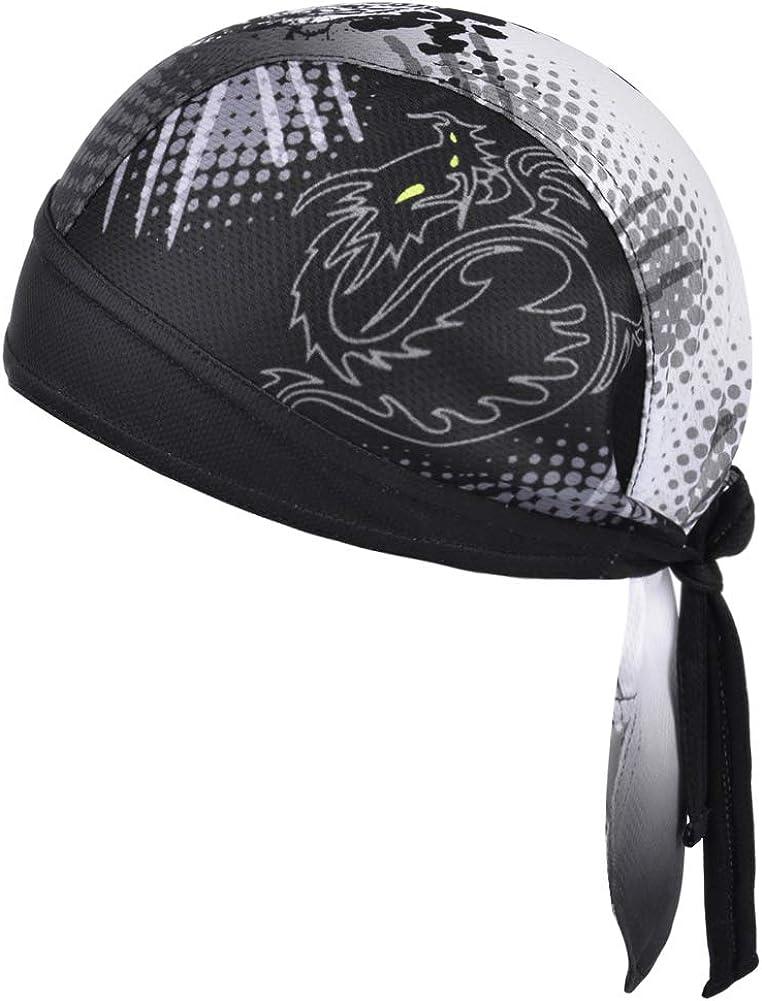 Vbiger Bandana Cap Sommermütze Bandana Kopftuch Atmungsaktive Fahrrad Kopfbedeckung Farbe 01 Einheitsgröße Bekleidung