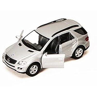 "Mercedes Benz ML-Class SUV, Silver - Kinsmart 5309DD - 5"" Diecast Model Toy Car, but NO Box: Toys & Games"