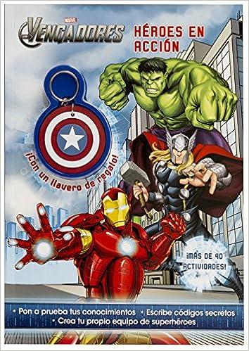 Los Vengadores. Héroes en acción: Libro con llavero Marvel ...