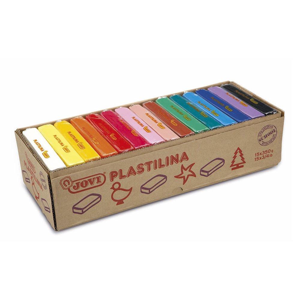 Jovi Caja de plastilina pastillas g colores surtidos S