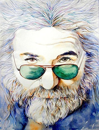Jerry Garcia, portrait painting ART print from original watercolor painting