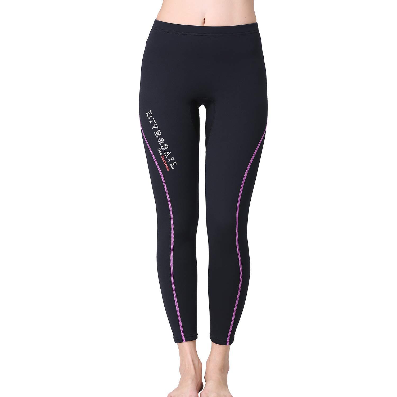Nataly Osmann Women's 1.5mm Neoprene Wetsuit Pants Diving Snorkeling Scuba Surf Canoe Pants (Women Purple, M) by Nataly Osmann