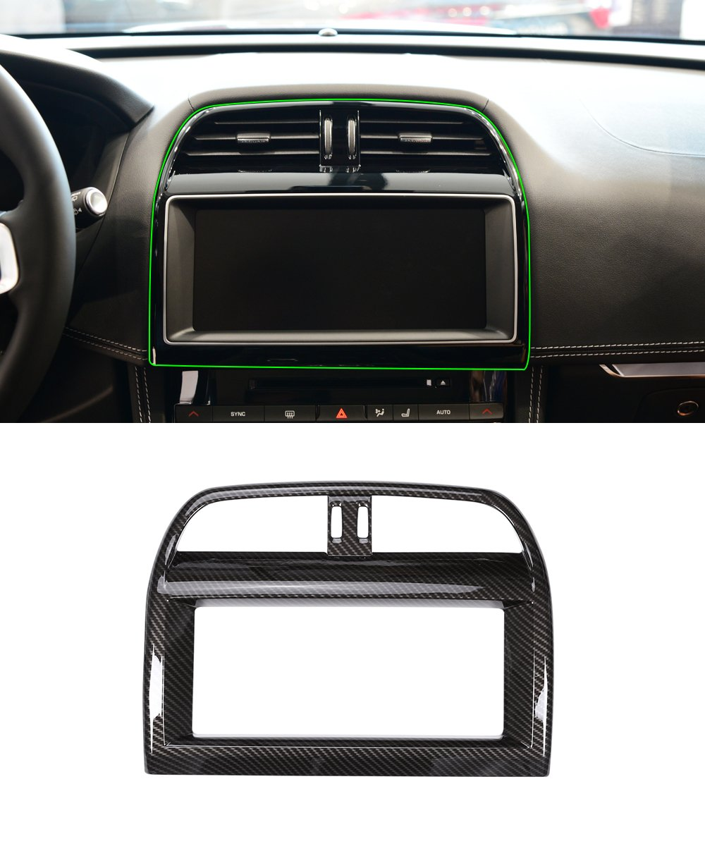 ABS Carbon Fiber Style Interior Navigation Screen Frame Trim For ...