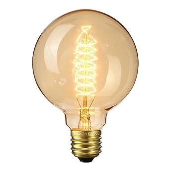 Ampoule Vintage Elfeland E27 40w Ampoules Incandescence Antique Filament En Spirale 220v 2200k 180lm Dimmable Lumière Décorative Pour Plafonnier