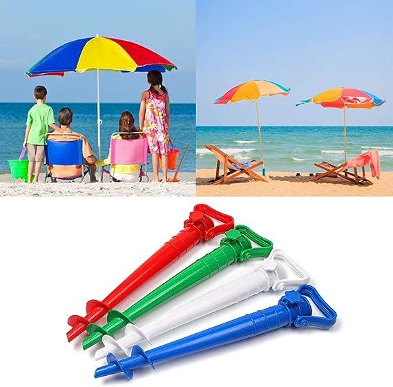 DS Supporto per spiedino per ombrellone o da Spiaggia per Filo con Cuneo per Tenere lombrello