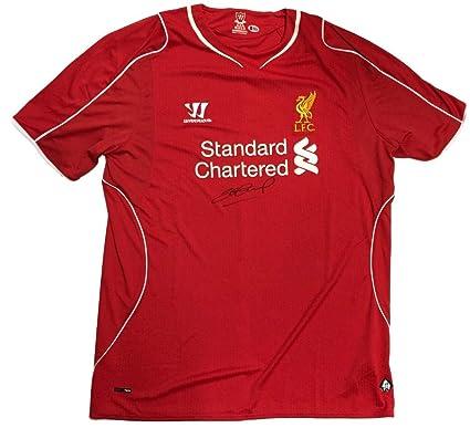 the latest 07916 12592 Steven Gerrard Signed Liverpool FC 2014/15 Warrior Replica ...