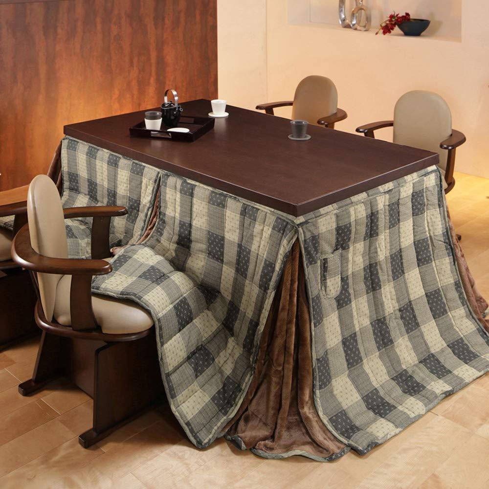 椅子用こたつテーブル 2点セット [長方形 150×90cm] (こたつ本体+専用布団) しじら織り B07KFR7CSF しじら織り しじら織り