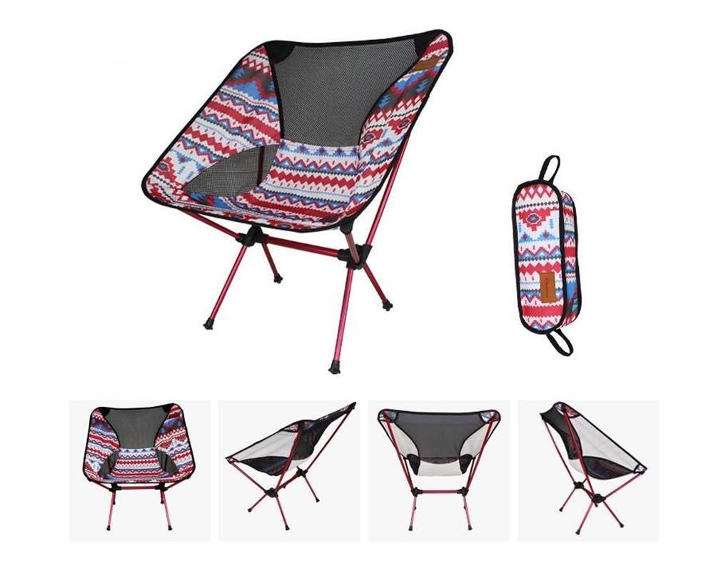 ZHDNG Moon Chair Outdoor Klappstuhl Angeln Camping Strand Aluminiumlegierung