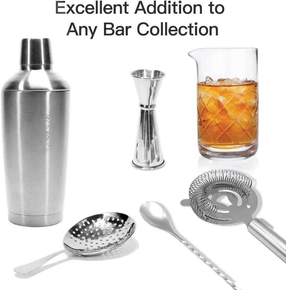 c/óctel de Acero Inoxidable 2 Piezas para c/ócteles Juego de Accesorios para c/ócteles Incluye Barra para Aperitivos Kit de Barman BROADREAM