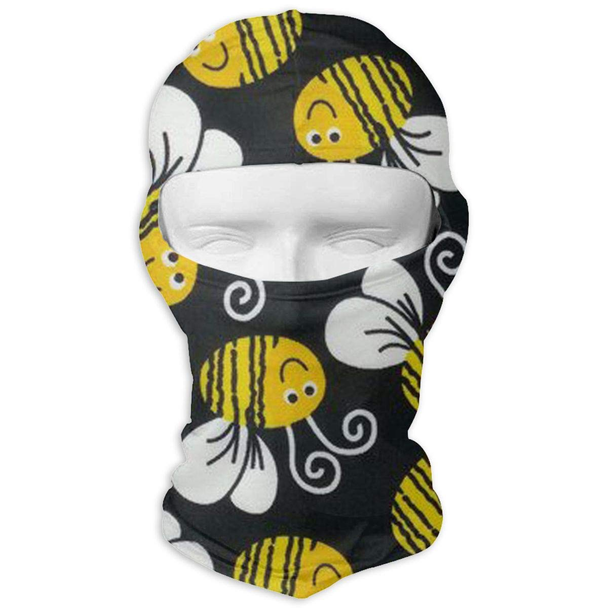 LaoJi Cute Bumblebee Winter Ski Mask Balaclava Hood Wind-Resistant Face Mask