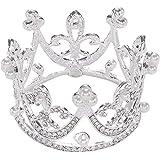Sunshinesmile Princess Bridal Wedding Party Baby Rhinestone Full Circle Round Mini Crown Tiara