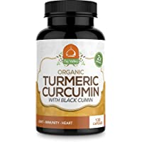 Taj Valley Organic Turmeric Curcumin w/Black Cumin 120 Veggie Capsules