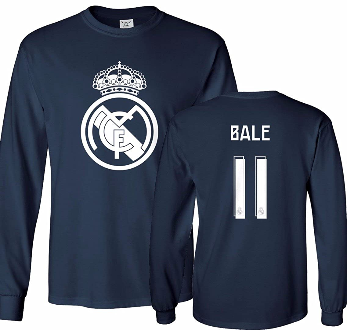 new style 2f639 3ab99 Tcamp Real Madrid Shirt Gareth Bale #11 Jersey Men's Long Sleeve T-shirt