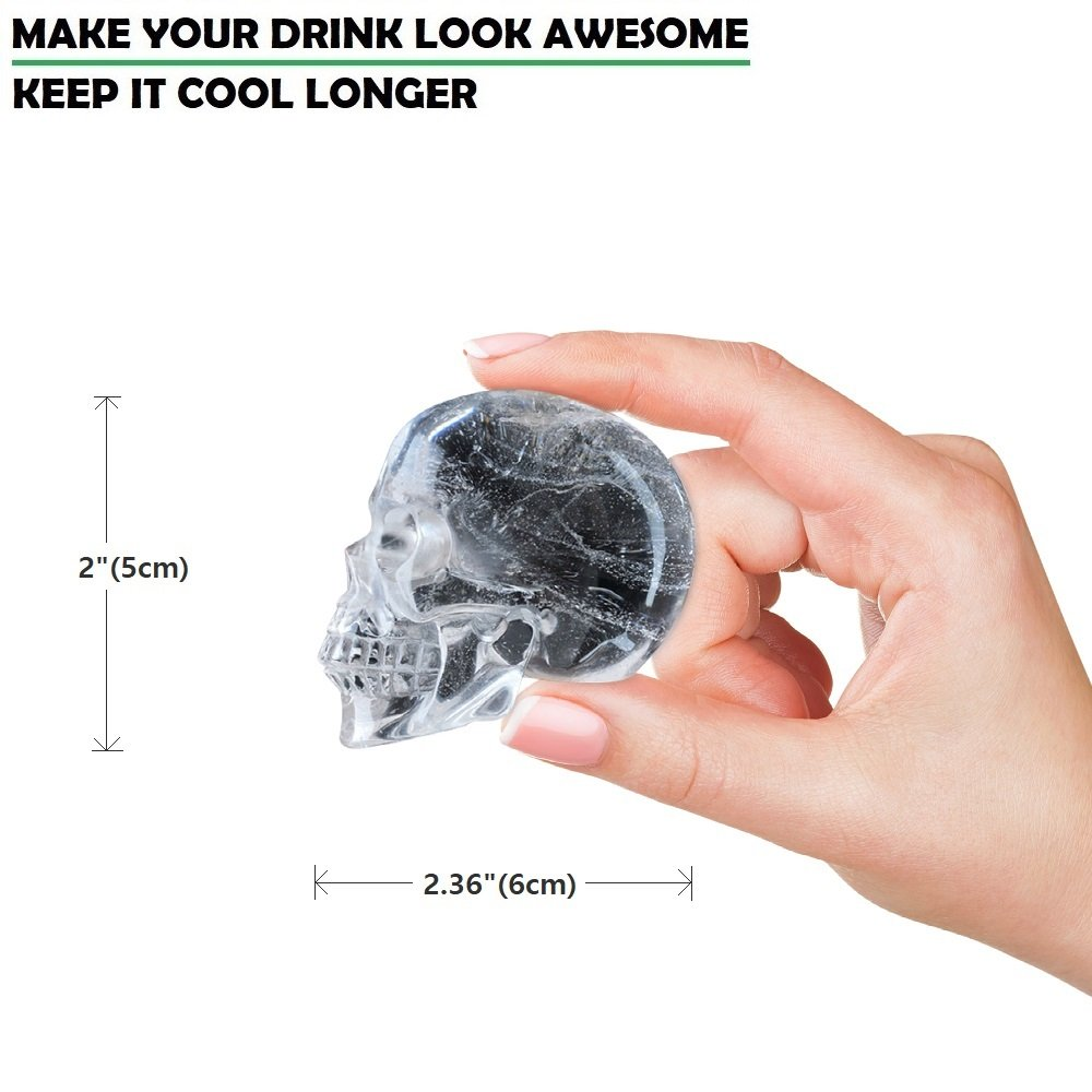Amazon.com: 3D Skull Flexible Silicone Ice Cube Mold Tray, Makes ...