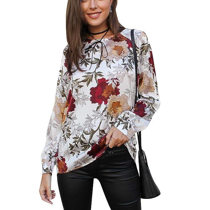 979cc04be6f9 Camisa con Cremallera en la Espalda con Estampado Floral Irregular ...