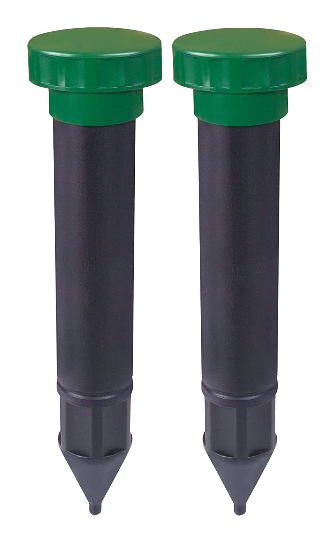 Gardigo Mole Repeller, Set of 2 | Mole Deterrent | Vole Deterrent | Battery operated | with ground spike