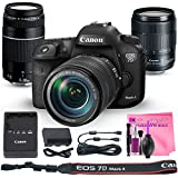 Canon EOS 7D Mark II Digital SLR Camera Deluxe PRO Bundle + Canon EF-S 18-135mm f3.5-5.6 + Canon EF 75-300mm f4-5.6 III Lenses + Camera Works PRO Kit