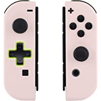 eXtremeRate Soft Touch Sakura Pink Joycon Handheld Controller Housing (D-Pad Version) with Full Set Buttons, DIY…
