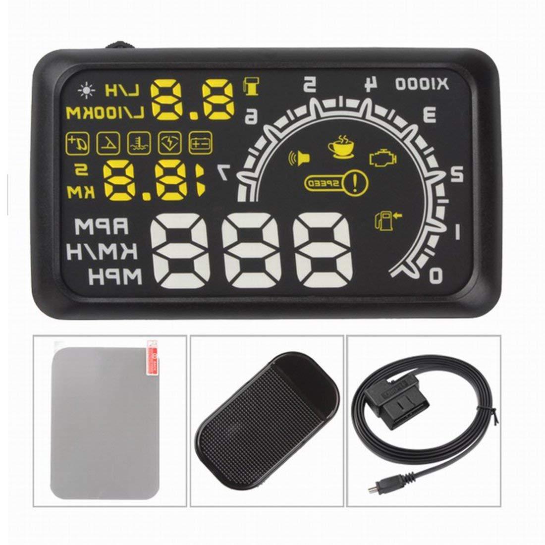 Universal Car HUD Head Up Display Projector 5.5 Inch OBD 2 Interface Speeding Warning Alarm System Digital Car Speedometer Formulaone