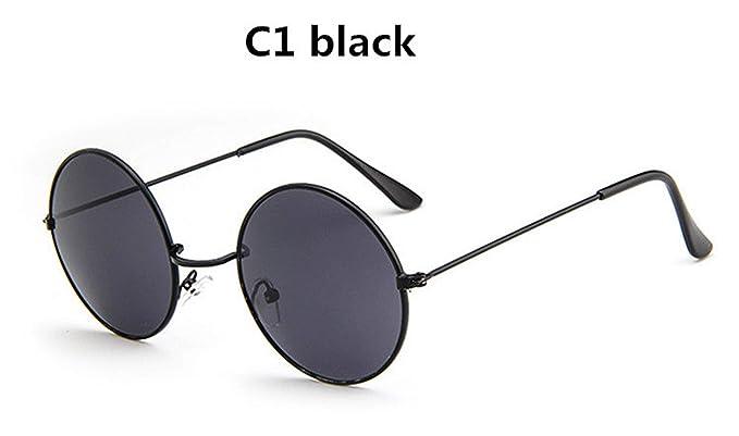 Amazon.com: Gafas de sol redondas y retro de gran tamaño ...