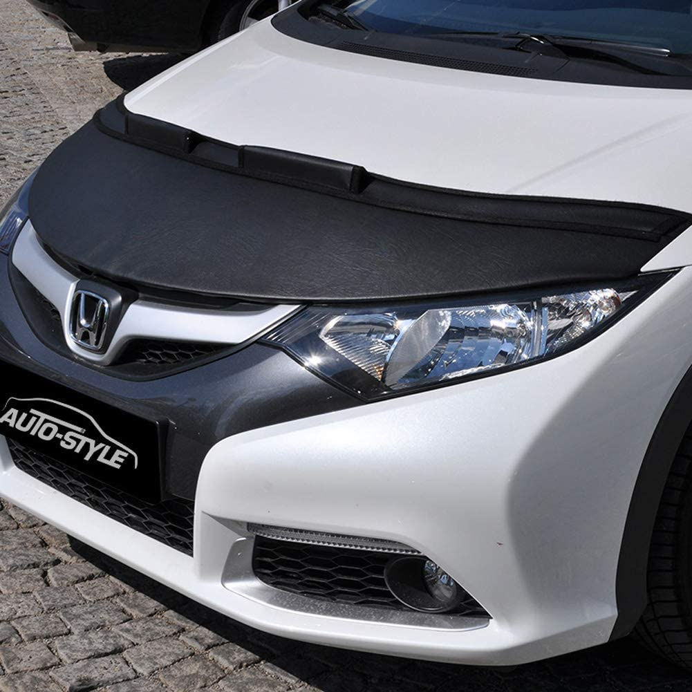 Bonnet stone guard cover compatible with Honda Civic HB 2012-2017 black
