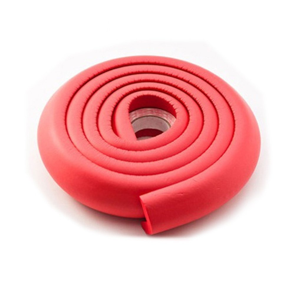2M (6.5 FT) Kids Softy Foam Safety Table Corner Softener Edge Cushion Strip Guard Protector(Black) Woopower