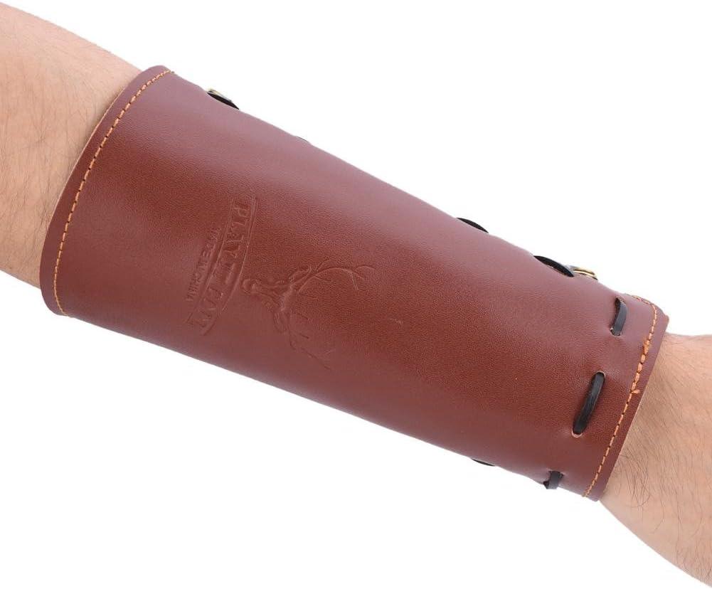 SolUptanisu Bogenschie/ßen Armschutz Einstellbare Bogenschie/ßen Armschoner Schie/ßen Leder Armschutz Schutz Safe Strap Armband Leichte Jagd Ziel Bogenschie/ßen