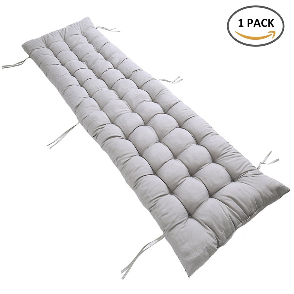 FlowersSea Sun Lounger Cushion Luxury Replacement Classic Pad for Garden Chair Recliner (1Pcs, Grey)